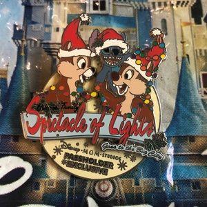 Disney Christmas Stitch Chip n Dale Pin